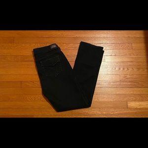 Black Levi 505 Straight Leg Jeans